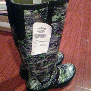 LL bean rubber boots size 6